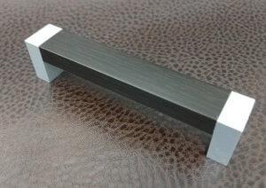 Ручки мебельные | Ручка С18 металлик-дуб венге