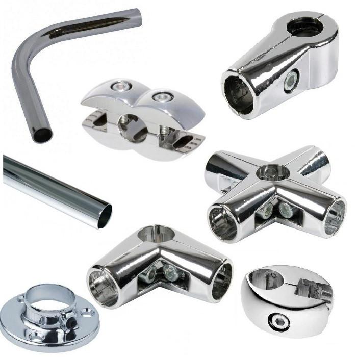 Хромированные трубы и крепежные элементы