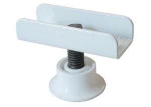 Опора регулируемая П образная белая 16 мм