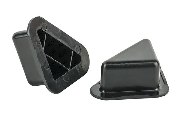 Опора уголок 17 мм, 35 мм черная