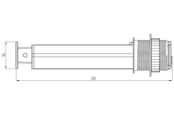 Выдвижной блок розеток D60mm 3 секции 2xUSB схема2